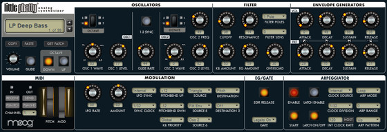 reKon audio VST Little Phatty Editor