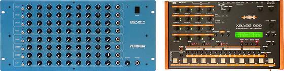 Vermona DRM mkII and JoMoX XBase 999