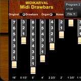 MidiKarval Midi Drawbars