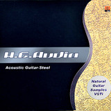 H.E. Audio Acoustic Guitar-Steel