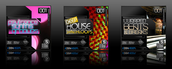 Zenhiser Psytrance Synths & Grooves, Deep House Synth Loops, Warped Beats & Breaks