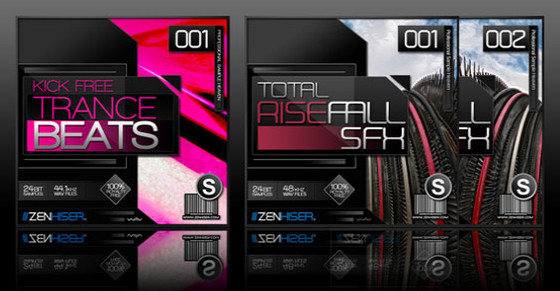 Zenhiser Kick Free Trance Beats 01 and Total Rise & Fall SFX