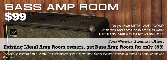 Softube Bass Amp Room promotion