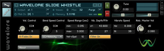 Wavelore Instruments Slide Whistle