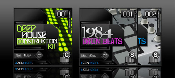 Zenhiser Deep House Construction Kit & 1984 Drum Beats