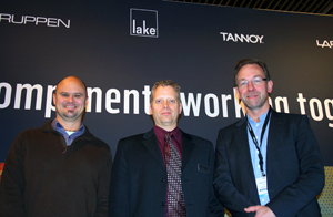 AVnu Alliance Marketing Work Group Chairman, Lee Minich, flanked by TC Group CEO Anders Fauerskov (right) and CTO Morten Lave (left)