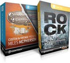 Toontrack Custom & Vintage Presets - Miles McPherson / Rock EZmix Pack