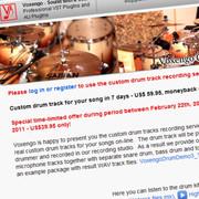 Voxengo Custom Drum Track Recording Service