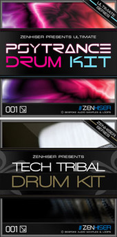 Zenhiser Psytrance & Tech Tribal Drum Kit sample packs