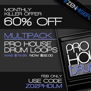 Zenhiser Pro House Drum Loops 60% off