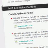 DNR Collaborative LFO Packs for Alchemy