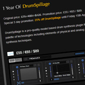 AudioSpillage 1-Year Anniversary Sale