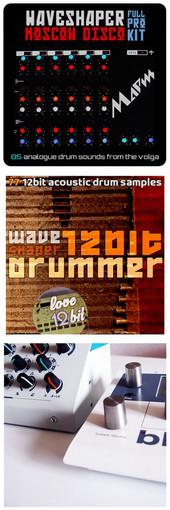 WaveShaper Moscow Disco, 12Bit Drummer & Aluminium / White Metal