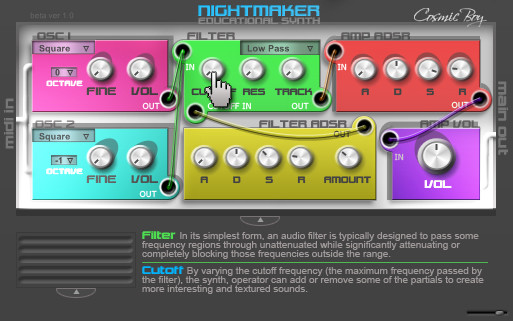 Nightmaker Educational Synth