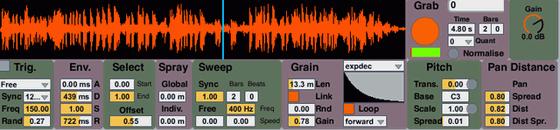 mo-seph Simple Max for Live Granulator