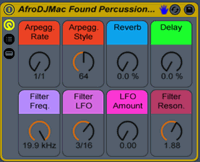 AfroDJMac Found Percussion