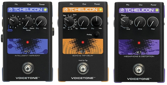 TC-Helicon VoiceLive H1, E1 & X1
