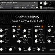Universal Sampling Down &amp; Dirty &amp; Clean Guitar
