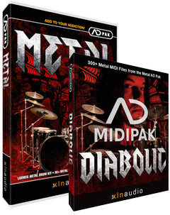 XLN Audio Metal ADpak / Diabolic MIDIpak