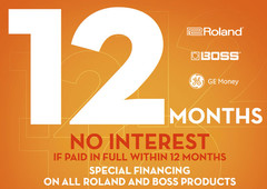 Roland GE Money special financing