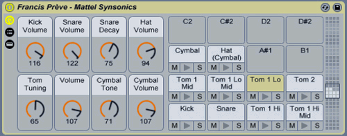 Synsonics for Ableton by Francis Prve