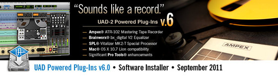 UAD Powered Plug-Ins v6.0