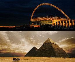 The Great Pyramid and Wembley stadium