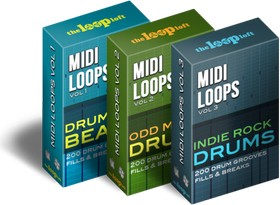 The Loop Loft MIDI Loops Vol 3: Indie Rock Drums