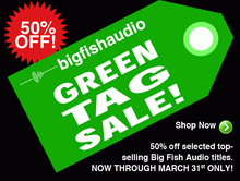 Big Fish Audio Green Tag Sale