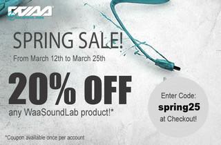 WaaSoundLab Spring Sale