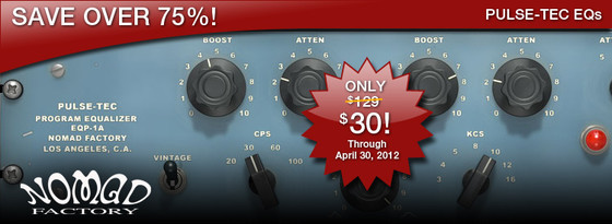 Nomad Factory Pulse-Tec EQs promotion at ILIO