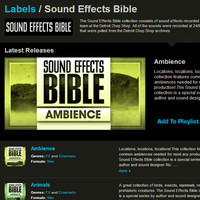 Sound Effects Bible at Loopmasters