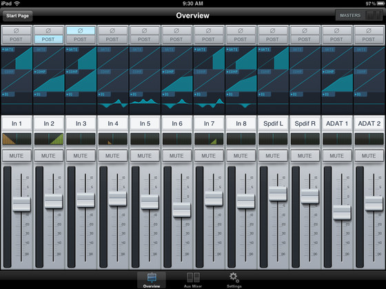 PreSonus AB1818VSL Remote for iPad