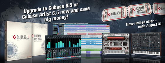 Steinberg Cubase 6.5 upgrade offer