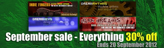 Dream Audio Tools September Sale