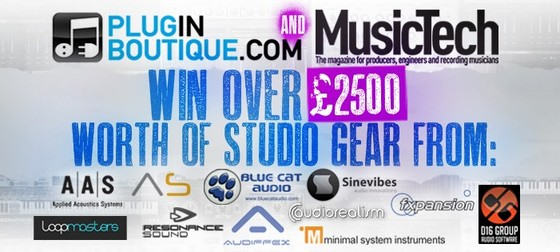 Plugin Boutique and Music Tech Magazine Music Gear Giveaway