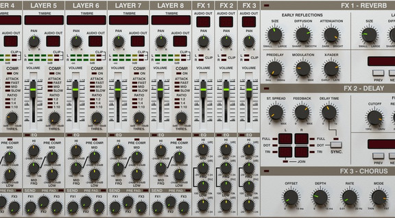 d16 LuSH-101 mixer panel