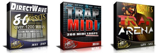 Hex Loops Direct Wave 80 Presets, Trap MIDI &ampl Trap Arena