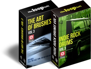 The Loop Loft The Art of Brushes Vol 3 / Indie Rock Drums ReFill