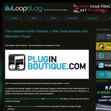 Win Massive &amp; Maschine prizes at Loopmasters