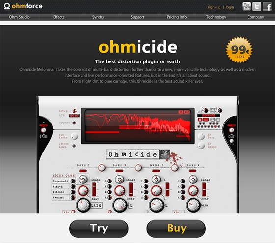 Ohm Force website