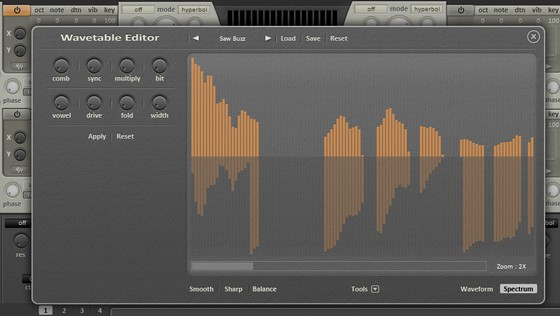 Dmitry Sches Diversion Wavetable editor