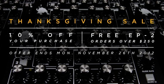Moog Thanksgiving Sale