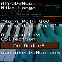 AfroDJMac Korg Poly 800 Armageddon Ableton Pack