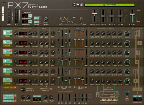 Propellerhead PX7 FM Synthesizer