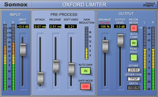 Sonnox Oxford Limiter