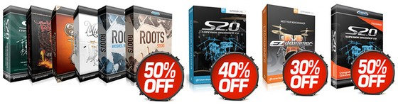 Toontrack up to 50% off at Time+Space
