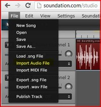 Soundation Studio audio import
