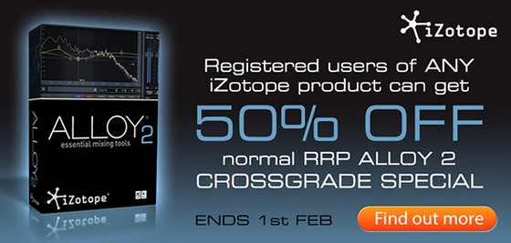 iZotope Alloy 2 loyalty promotion