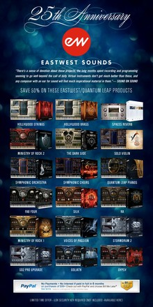 EastWest 25th anniversary sale